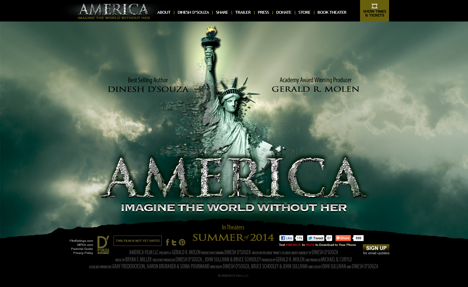 AMERICA: Imagine the World Without Her / Web Design
